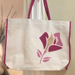 Pink Lancôme Canvas Tote Bag